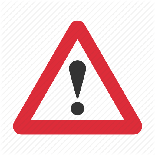 Triangular traffic warning sign icon